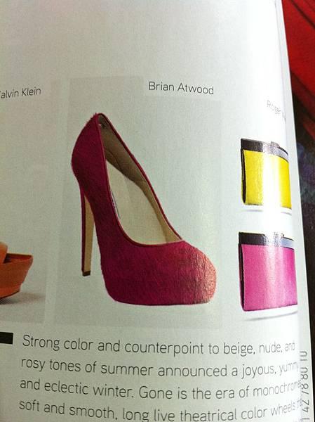 雜誌內好看鞋