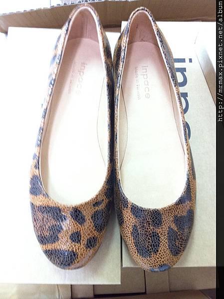 大豹紋造型平底娃娃鞋