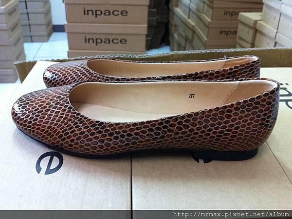 蟒蛇系立體鱗片平底娃娃鞋側面