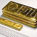 一公斤金塊與五台兩金塊