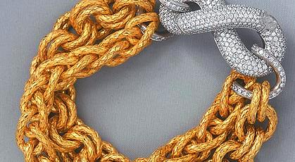 BV k金編織手環