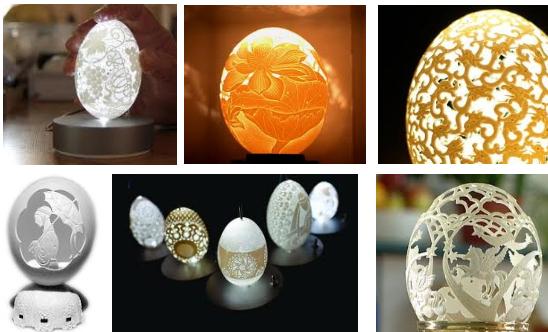 值得觀摩欣賞的蛋雕藝術作品