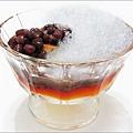 北歐先生焦糖烤布丁+紅豆+銼冰