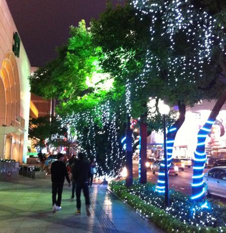 美好浪漫的聖誕街頭