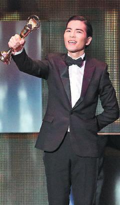 第24屆台灣金曲獎歌王蕭敬騰(聯合報記者陳立凱/攝影)