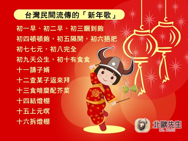台灣民間流傳的「新年歌」