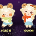 2015 臺北燈節在花博- 吉祥物Young弟與Young妹