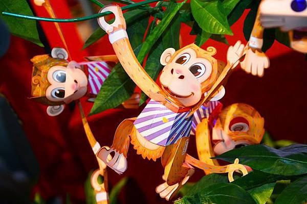 2016年台灣燈會在桃園-小提燈「活力猴」