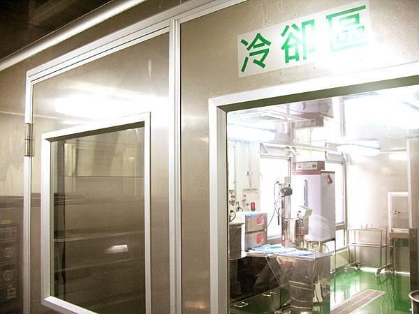 「勝利廚房」通過ISO22000、HACCP等第三方國際品質認證的食安控管的環境(冷卻區)