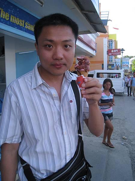 不好吃的路邊冰淇淋