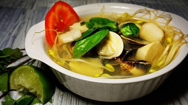 杏鮑菇蛤蜊湯