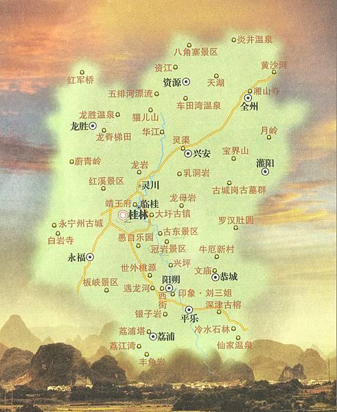 廣西景區地圖