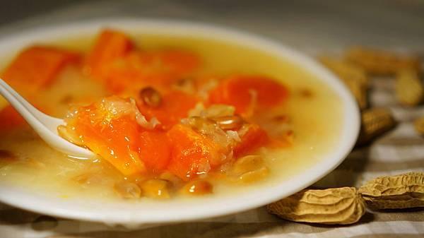 木瓜銀耳花生甜湯