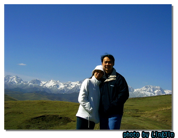 烏稍嶺爬坡路旁風景馬雅雪山