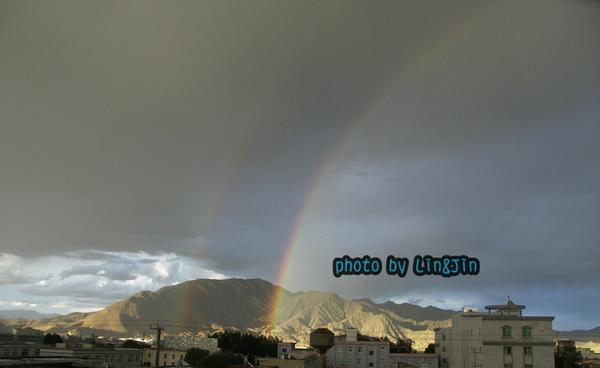 日喀則晚上8點半出現雙彩虹-1.JPG
