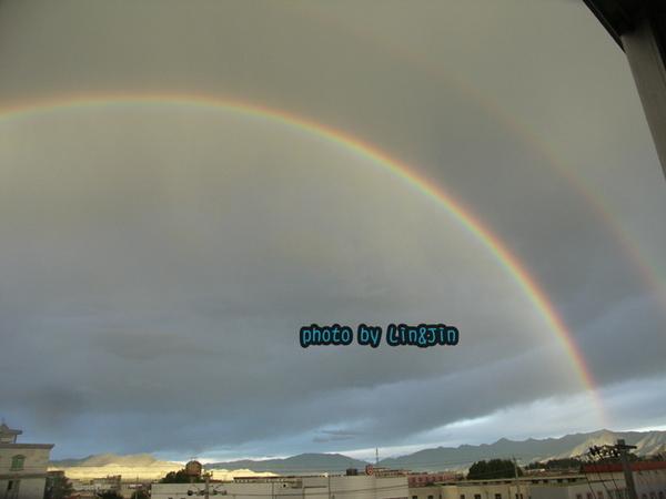 日喀則晚上8點半出現雙彩虹-5.JPG