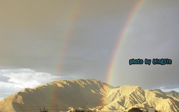 日喀則晚上8點半出現雙彩虹-7.JPG