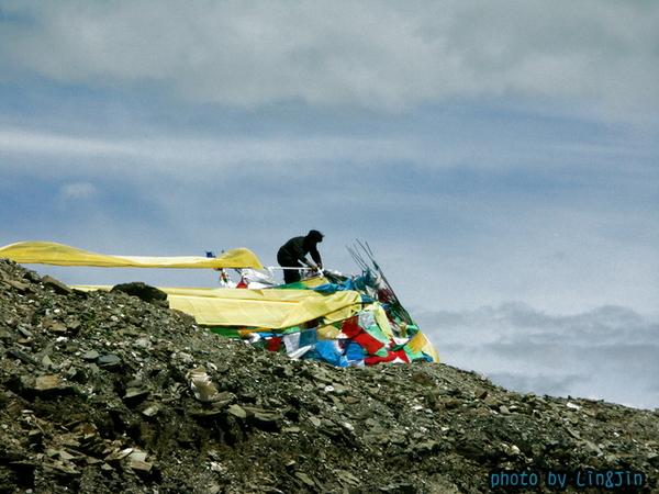 剛巴拉山頂的風馬旗-3.JPG