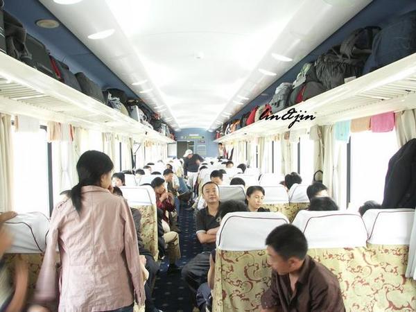 青藏鐵路列車裡的現況