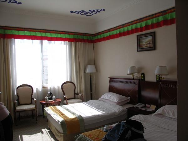 拉薩的旅館藏式房間