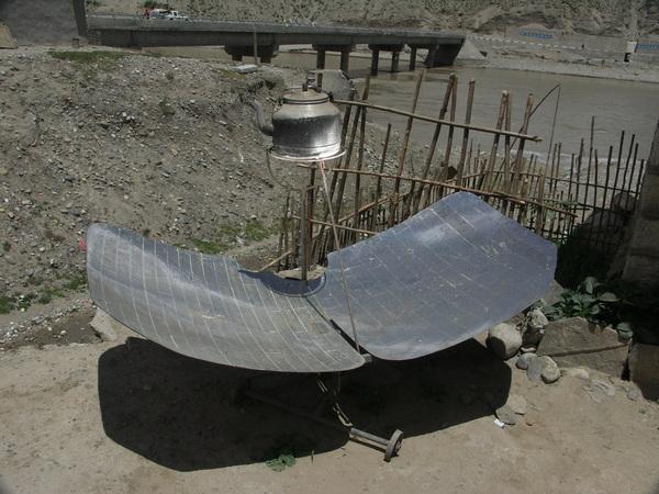 用太陽能燒開水