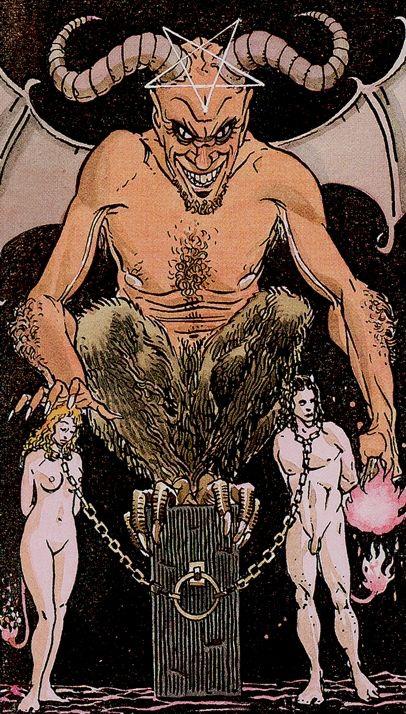 Universal Tarot - Devil