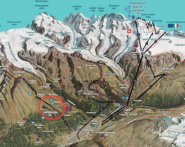 zermatt hiking map