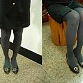 瑪榭厚地保溫褲襪-鐵灰