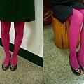 瑪榭厚地保溫褲襪-玫瑰紅