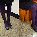 瑪榭厚地保溫褲襪-深紫