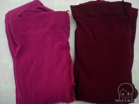 瑪榭厚地保溫褲襪-玫紅與棗紅