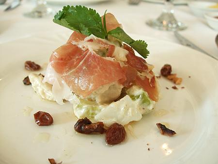 新竹「吉安諾」餐廳-燻火腿沙拉