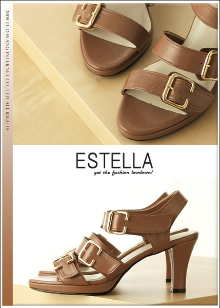 ESTELLA釦環羅馬厚底高跟鞋