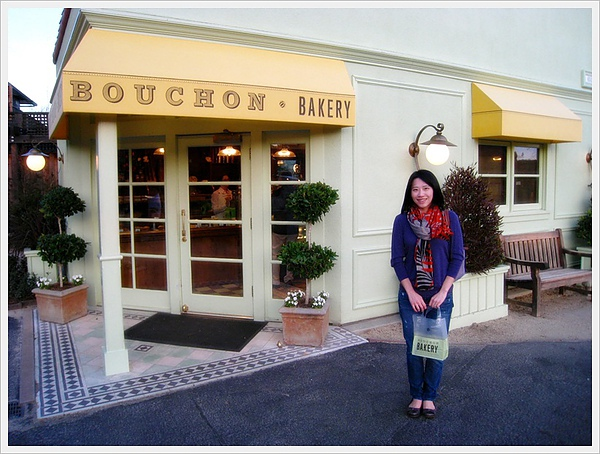 Me in front of Bouchon bakery
