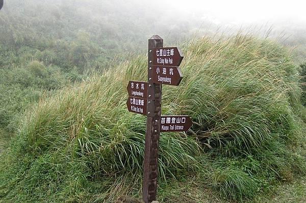 主峰與東峰分岔處