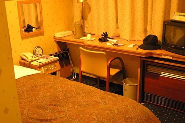 在新潟住的旅館房間