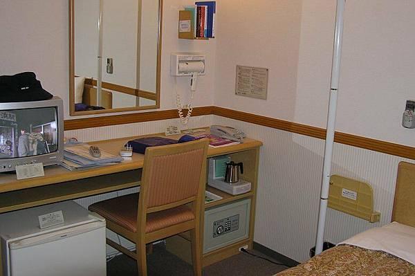 在秋田住的旅館房間