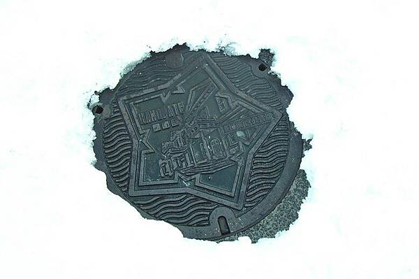 函館的下水道人孔蓋