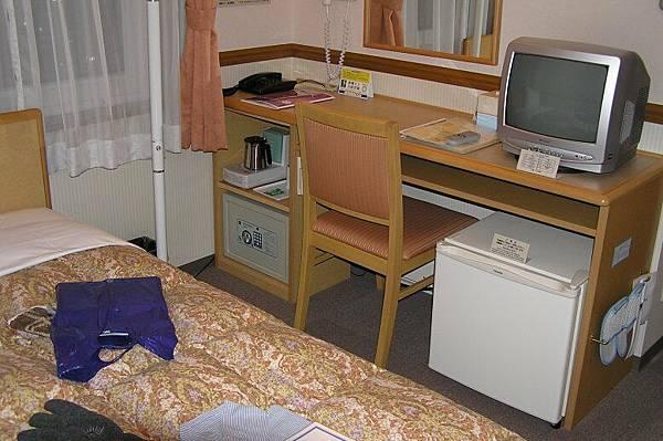 在旭川住的旅館房間