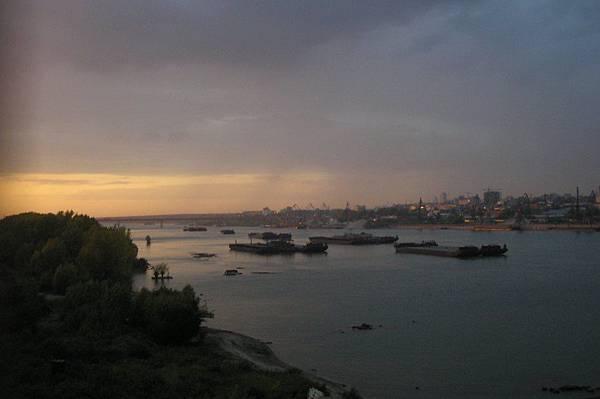鄂畢河的夕陽