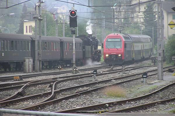 看到蒸汽列車