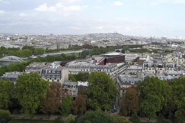 遠眺巴黎市區