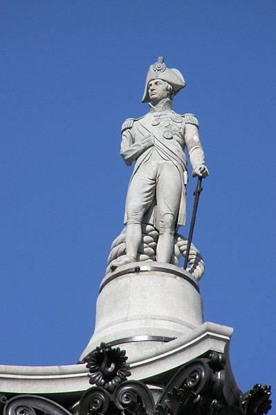 打敗拿破崙海軍的納爾遜將軍雕像