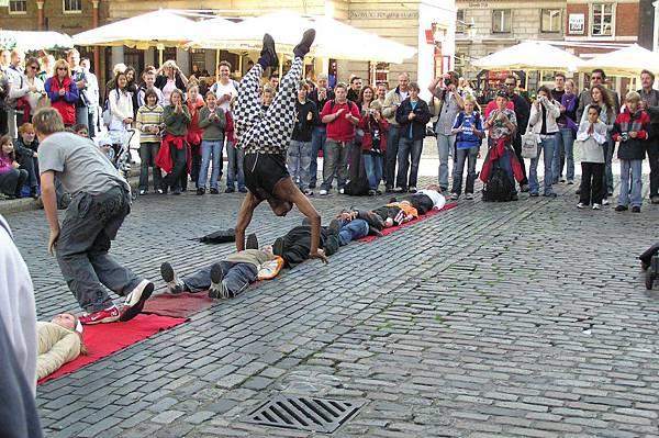 科芬園的街頭表演藝人