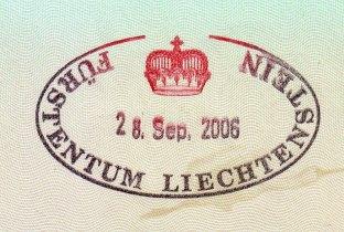 列支敦士登護照紀念章