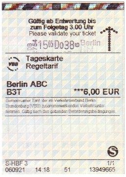 柏林 地鐵一日券