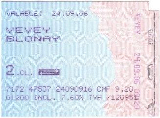 瑞士 來回車票