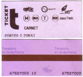 巴黎 交通票券