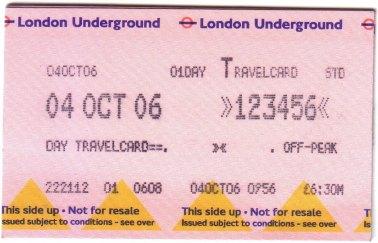 倫敦 地鐵一日券