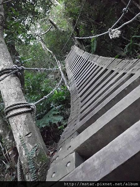 第一段陡上木梯